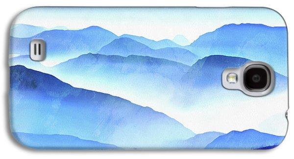 Blue Galaxy S4 Case - Blue Ridge Mountains by Edward Fielding