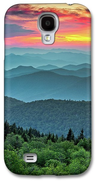 Blue Ridge Parkway Sunset - The Great Blue Yonder Galaxy S4 Case