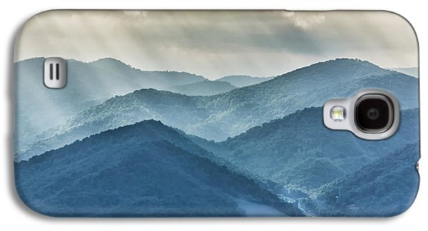 Blue Ridge Sunset Rays Galaxy S4 Case