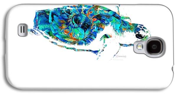 Blue Sea Turtle By Sharon Cummings  Galaxy S4 Case by Sharon Cummings