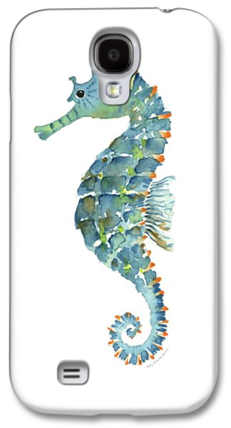 Blue Seahorse Galaxy S4 Case by Amy Kirkpatrick
