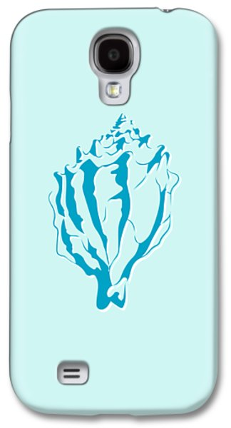 Blue Seashell Galaxy S4 Case by Lauren Amelia Hughes