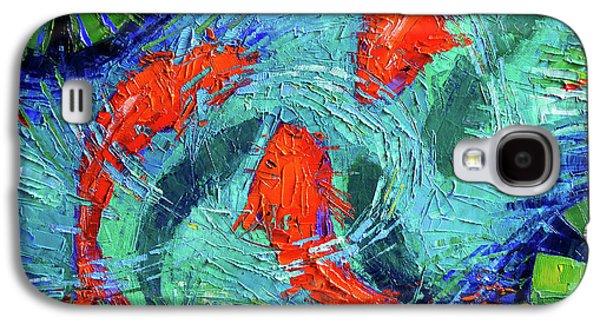 Blue Silence Galaxy S4 Case by Mona Edulesco