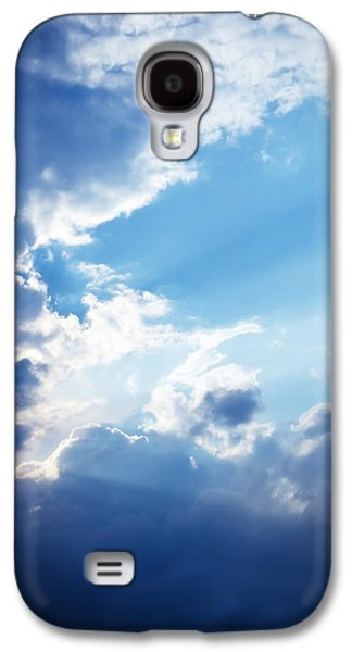 Blue Sky And Clouds With Sun Light Galaxy S4 Case