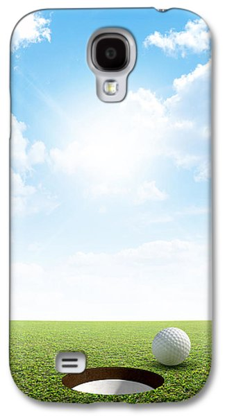 Blue Sky And Putting Green Galaxy S4 Case by Allan Swart