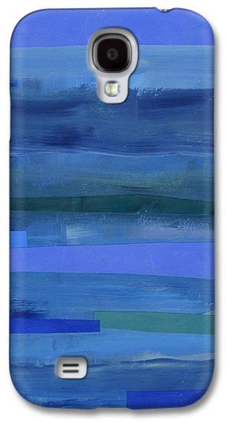 Blue Stripes 1 Galaxy S4 Case