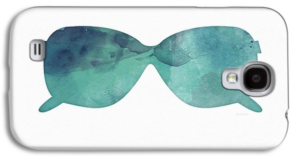 Blue Sunglasses 1- Art By Linda Woods Galaxy S4 Case by Linda Woods