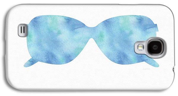 Blue Sunglasses 2- Art By Linda Woods Galaxy S4 Case by Linda Woods