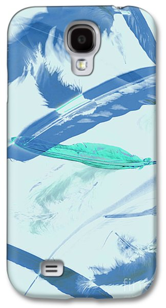 Blue Toned Artistic Feather Abstract Galaxy S4 Case