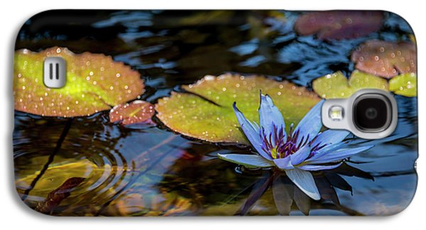 Blue Water Lily Pond Galaxy S4 Case