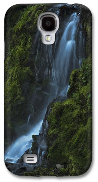 Galaxy S4 Case featuring the photograph Blue Waterfall by Yulia Kazansky