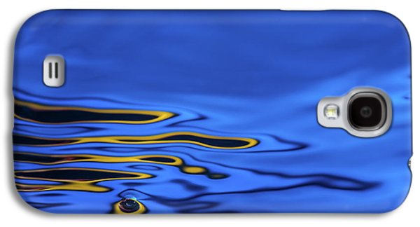 Abstract Movement Galaxy S4 Case - Blue Wave Abstract Number 2 by Steve Gadomski