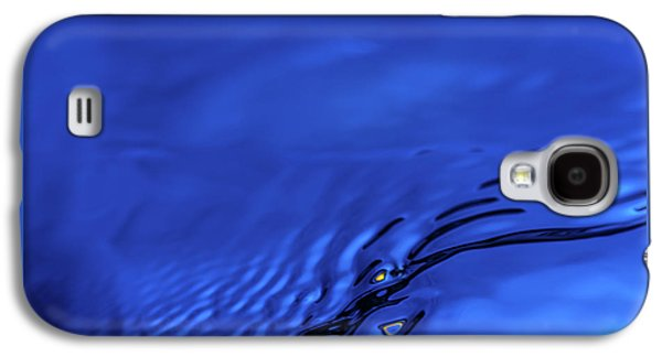 Abstract Movement Galaxy S4 Case - Blue Wave Abstract Number 5 by Steve Gadomski