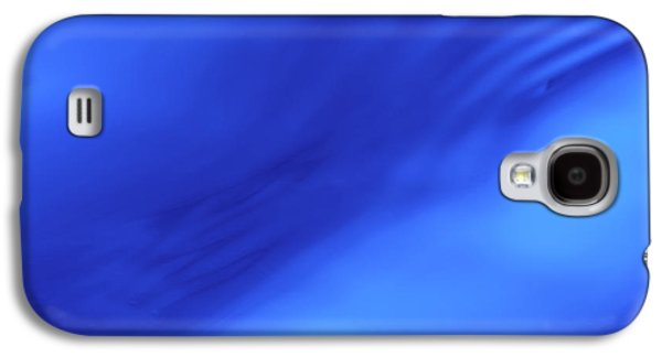 Abstract Movement Galaxy S4 Case - Blue Wave Abstract by Steve Gadomski