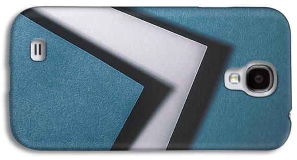 Minimalist Galaxy S4 Case - Blue White Blue by Scott Norris