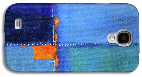 Blue Window Abstract Galaxy S4 Case by Nancy Merkle