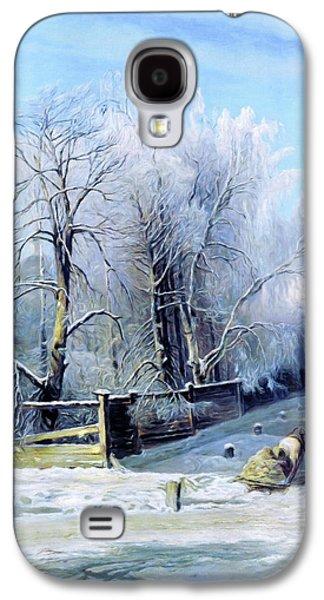 Blue Winter Days Galaxy S4 Case
