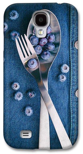 Blueberries On Denim II Galaxy S4 Case by Tom Mc Nemar