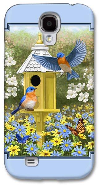 Bluebird Garden Home Galaxy S4 Case by Crista Forest
