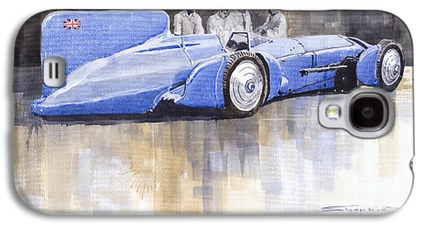 Bluebird Galaxy S4 Case - Bluebird World Land Speed Record Car 1931 by Yuriy Shevchuk