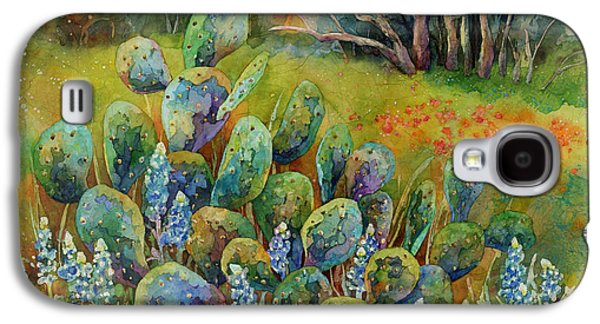 Bluebonnets And Cactus Galaxy S4 Case by Hailey E Herrera