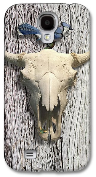 Bluejay And The Buffalo Skull Galaxy S4 Case