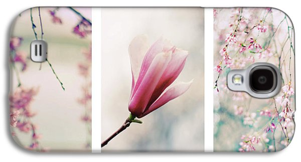 Galaxy S4 Case featuring the photograph Blush Blossom Triptych by Jessica Jenney