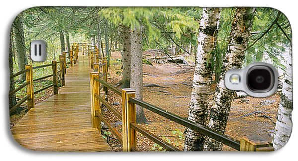 Boardwalk Along A River, Gooseberry Galaxy S4 Case by Panoramic Images