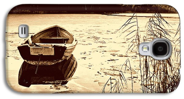 Boat By Lakeside Galaxy S4 Case by Asar Studios