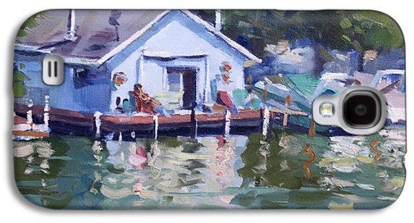 Boat House At Tonawanda Canal Galaxy S4 Case