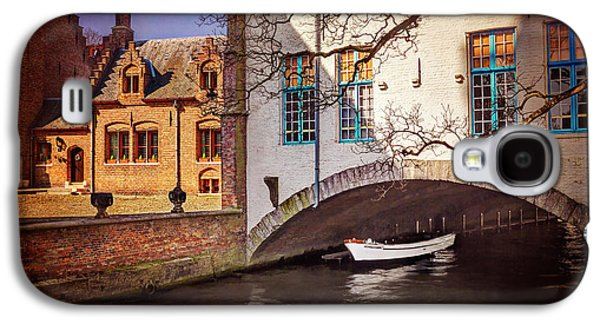 Boat Under A Little Bridge In Bruges  Galaxy S4 Case