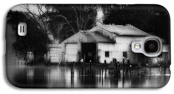 Galaxy S4 Case featuring the photograph Boathouse Bw by Bill Wakeley