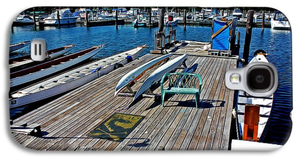 Boats At An Empty Dock 1 Galaxy S4 Case by Nishanth Gopinathan
