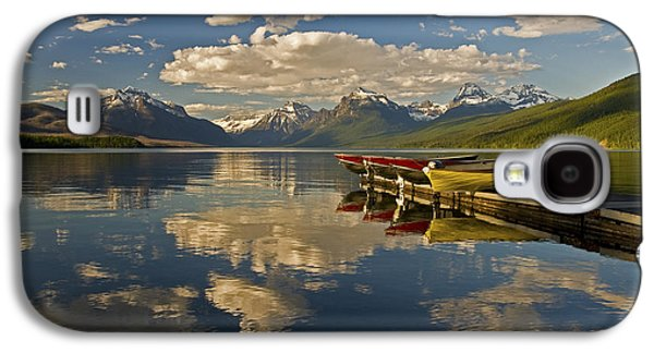 Boats At Lake Mcdonald Galaxy S4 Case