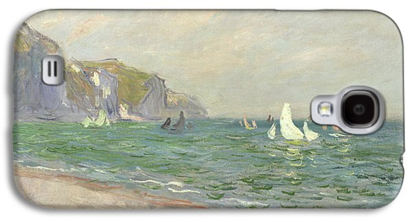 Boat Galaxy S4 Case - Boats Below The Cliffs At Pourville by Claude Monet