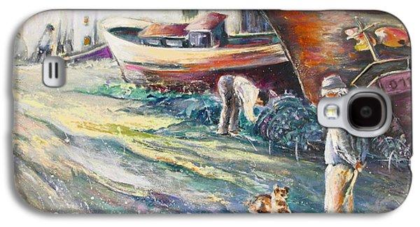 Boats Yard In Villajoyosa Spain Galaxy S4 Case by Miki De Goodaboom