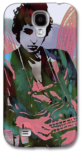 Bob Dylan Modern Etching Art Poster Galaxy S4 Case by Kim Wang