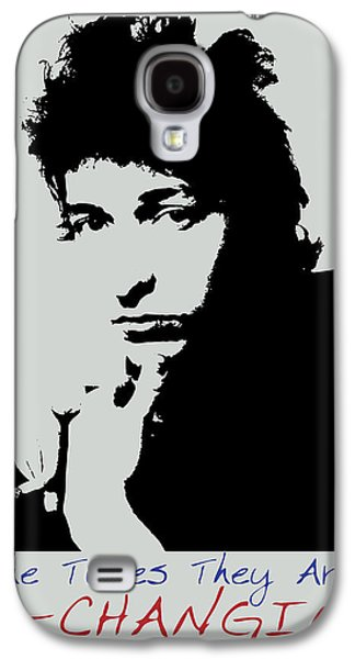 Bob Dylan Poster Print Quote - The Times They Are A Changin Galaxy S4 Case