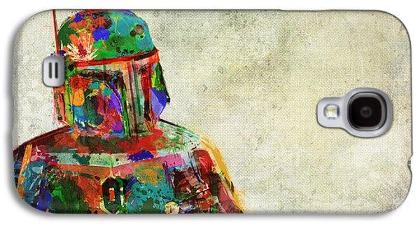 Boba Fett In Colour Galaxy S4 Case by Mitch Boyce