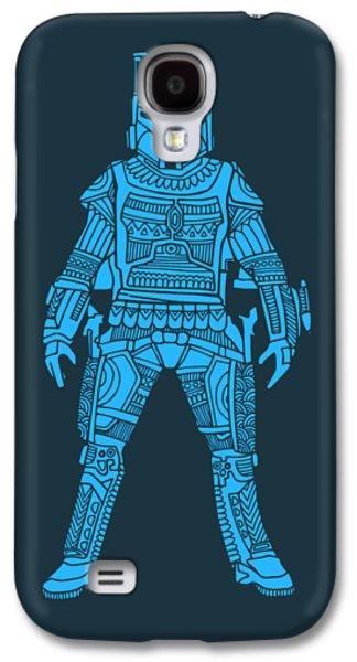 Boba Fett - Star Wars Art, Blue Galaxy S4 Case