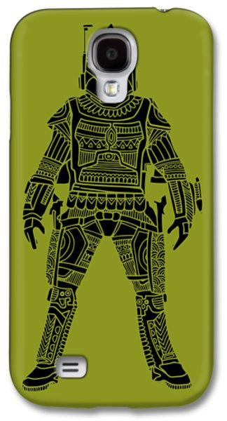 Boba Fett - Star Wars Art, Green Galaxy S4 Case