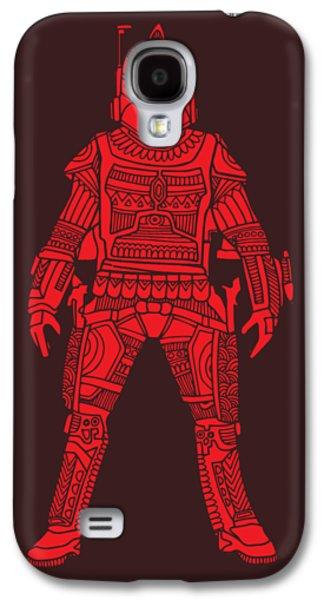 Boba Fett - Star Wars Art, Red Galaxy S4 Case