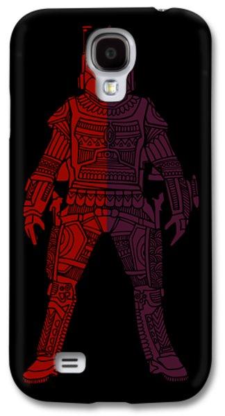 Boba Fett - Star Wars Art, Red Violet Galaxy S4 Case