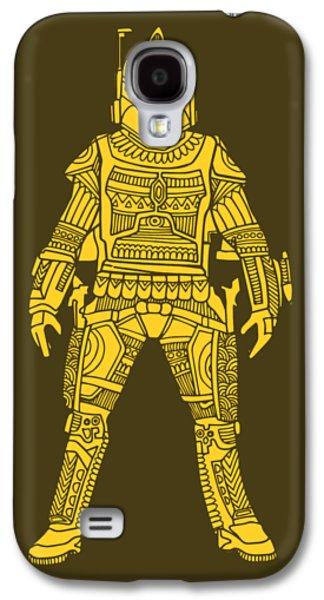 Boba Fett - Star Wars Art, Yellow Galaxy S4 Case