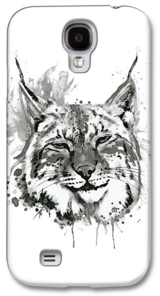 Bobcat Head Black And White Galaxy S4 Case
