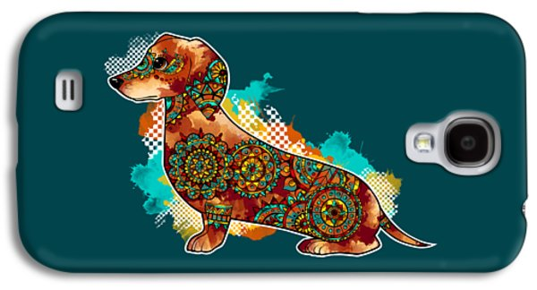 Bohemian Dachshund Galaxy S4 Case