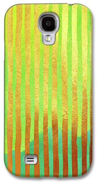 Bohemian Gold II Stripes Abstract Art Galaxy S4 Case