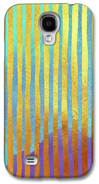 Bohemian Gold Stripes Abstract Galaxy S4 Case by Tina Lavoie
