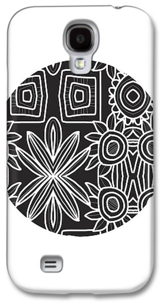 Boho Black And White Ball 1- Art By Linda Woods Galaxy S4 Case