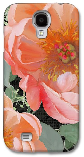 Bold Peony Seeded Eucalyptus Leaves Galaxy S4 Case